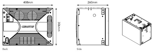 Line Drawing of Christie Digital MicroTiles, available for Hire from Production AV Ltd