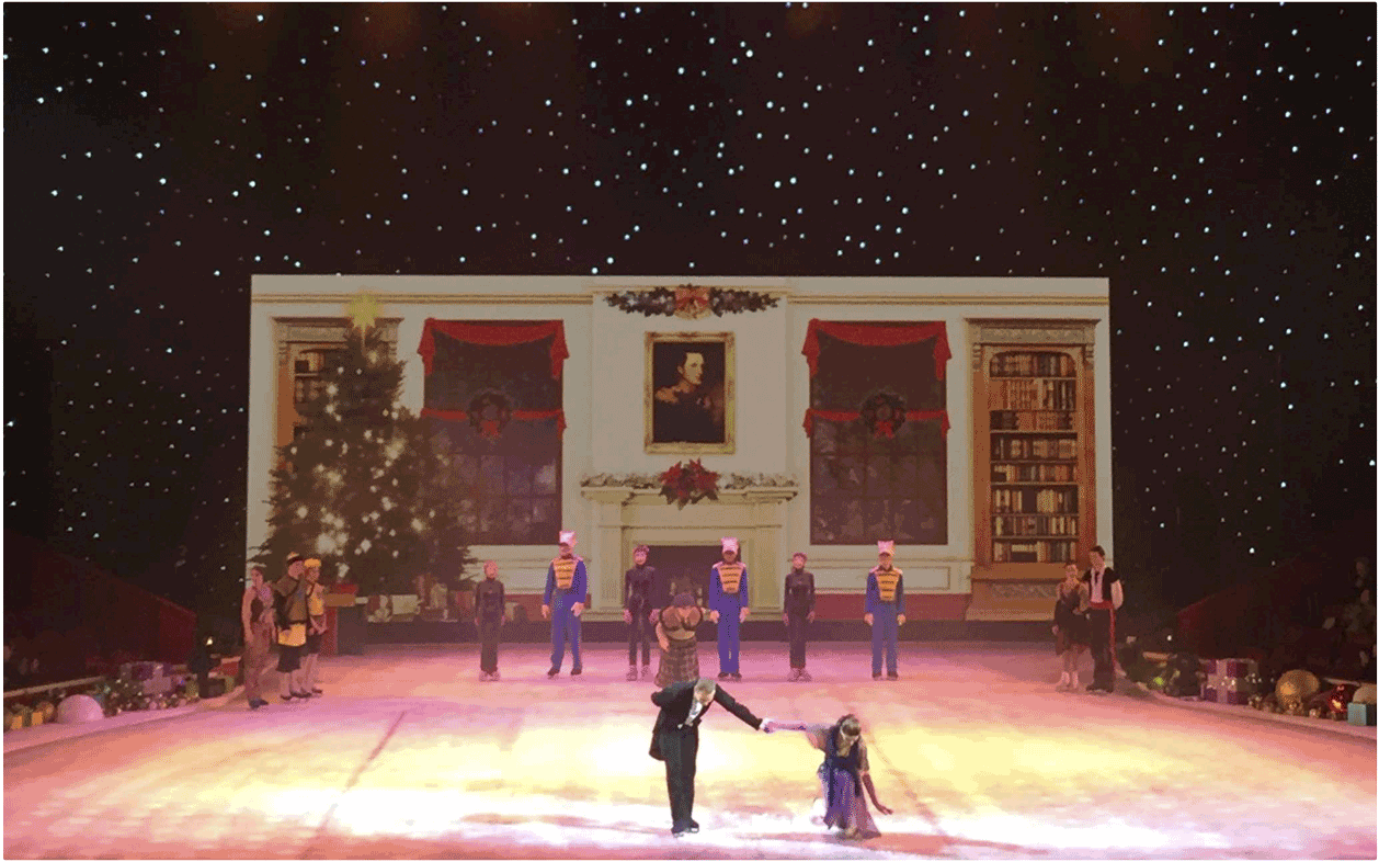 Desay 6mm Inddor/Outdoor LED Screen provided by Production AV for the Nutcracker on Ice at the Royal Albert Hall