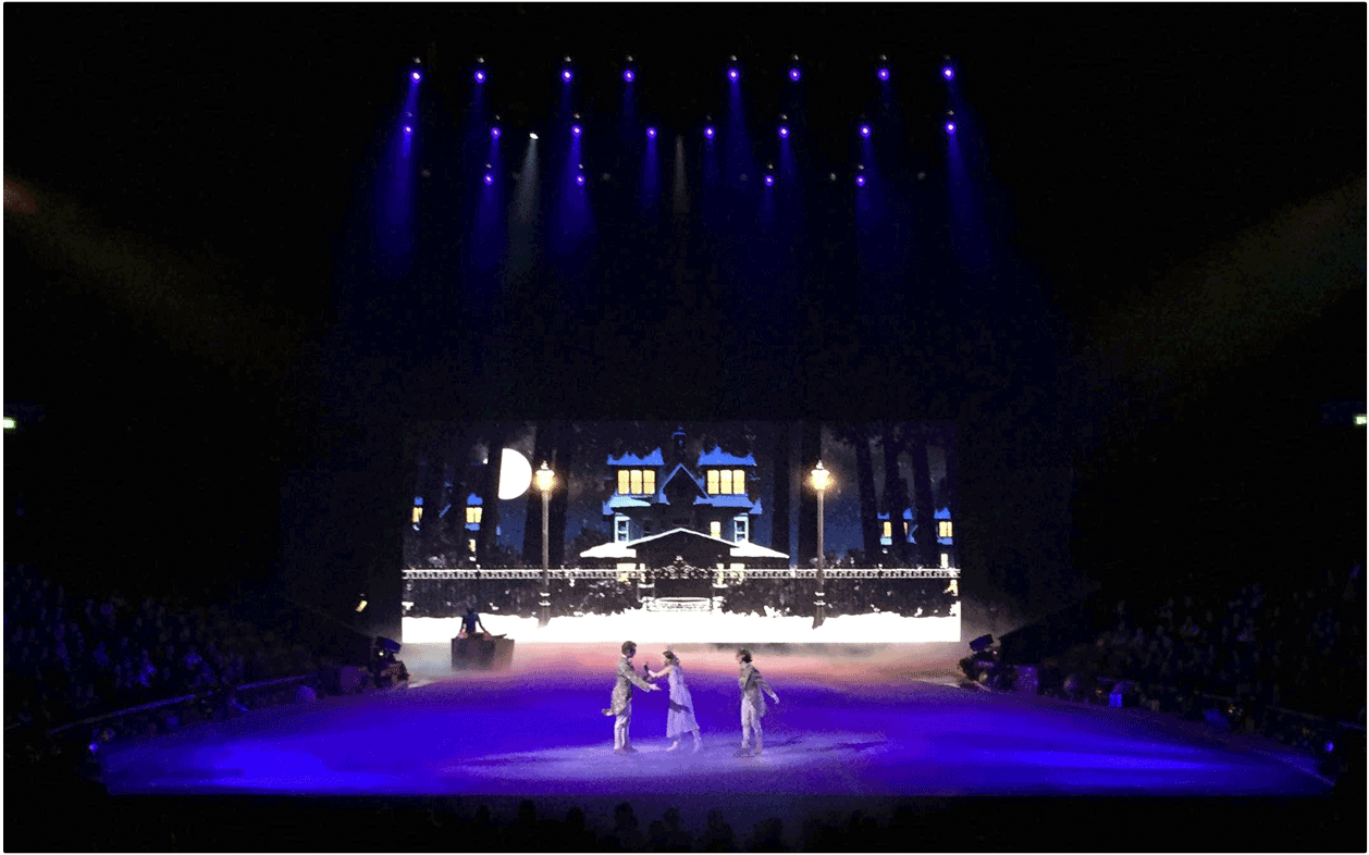 Desay 6mm Indoor/Outdoor LED Screen provided by Production AV for the Nutcracker on Ice at the Royal Albert Hall
