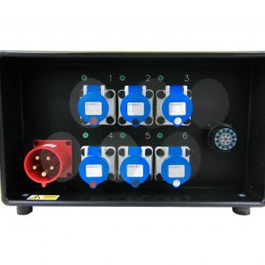 32A 3ph Distro 6 x 16A, 1x Soca, all RCBO's