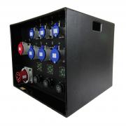 63A 3ph Distro - 3 x Soca, 1 x 32A 3ph, 3 x 32A, 3 x 16A - LED PDU