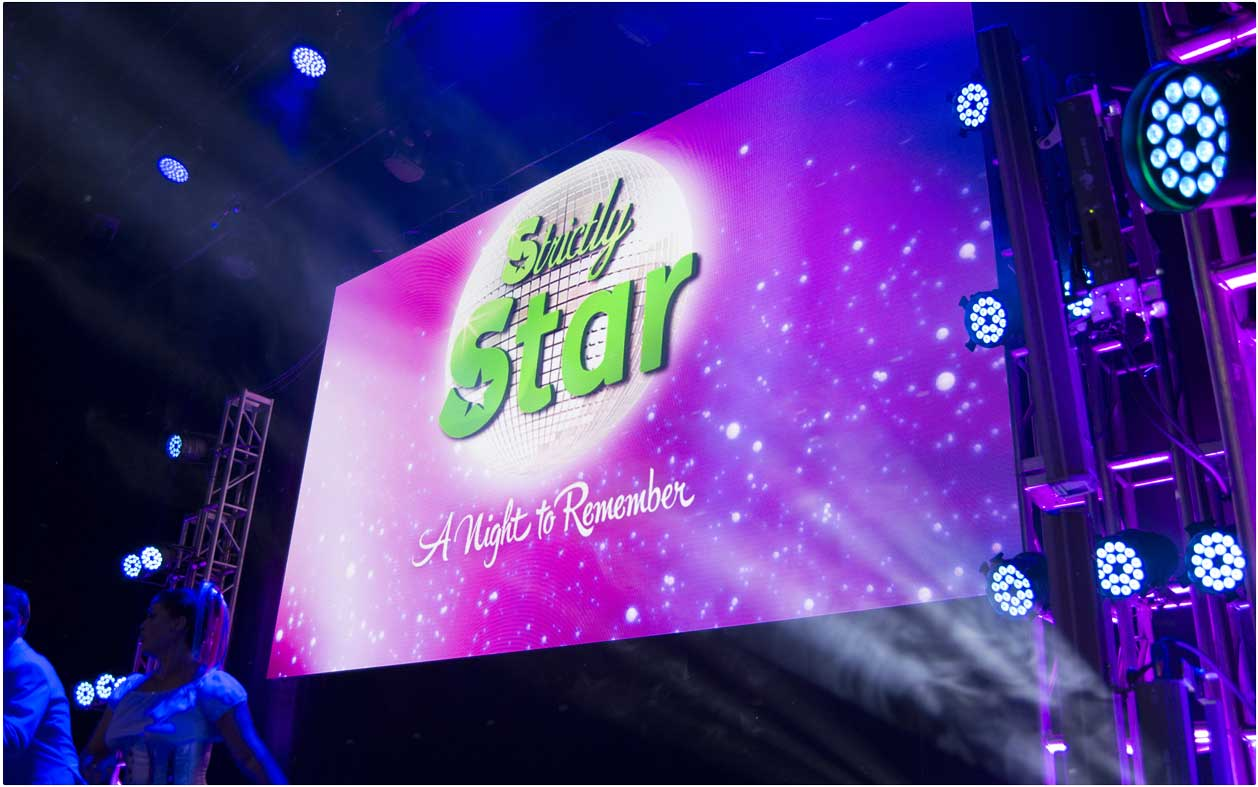 Strictly Star 3.9mm LED Wall provided by Production AV. Available to hire.