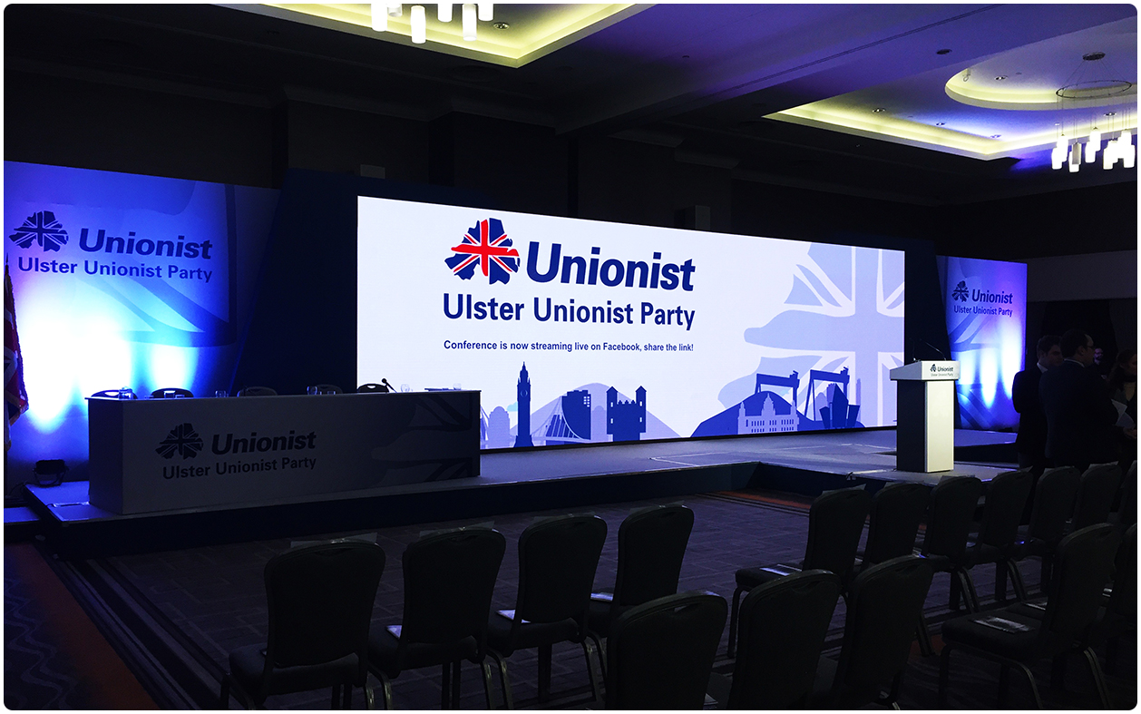 UUP Party Conference 2016 LED Screen Stage Setup