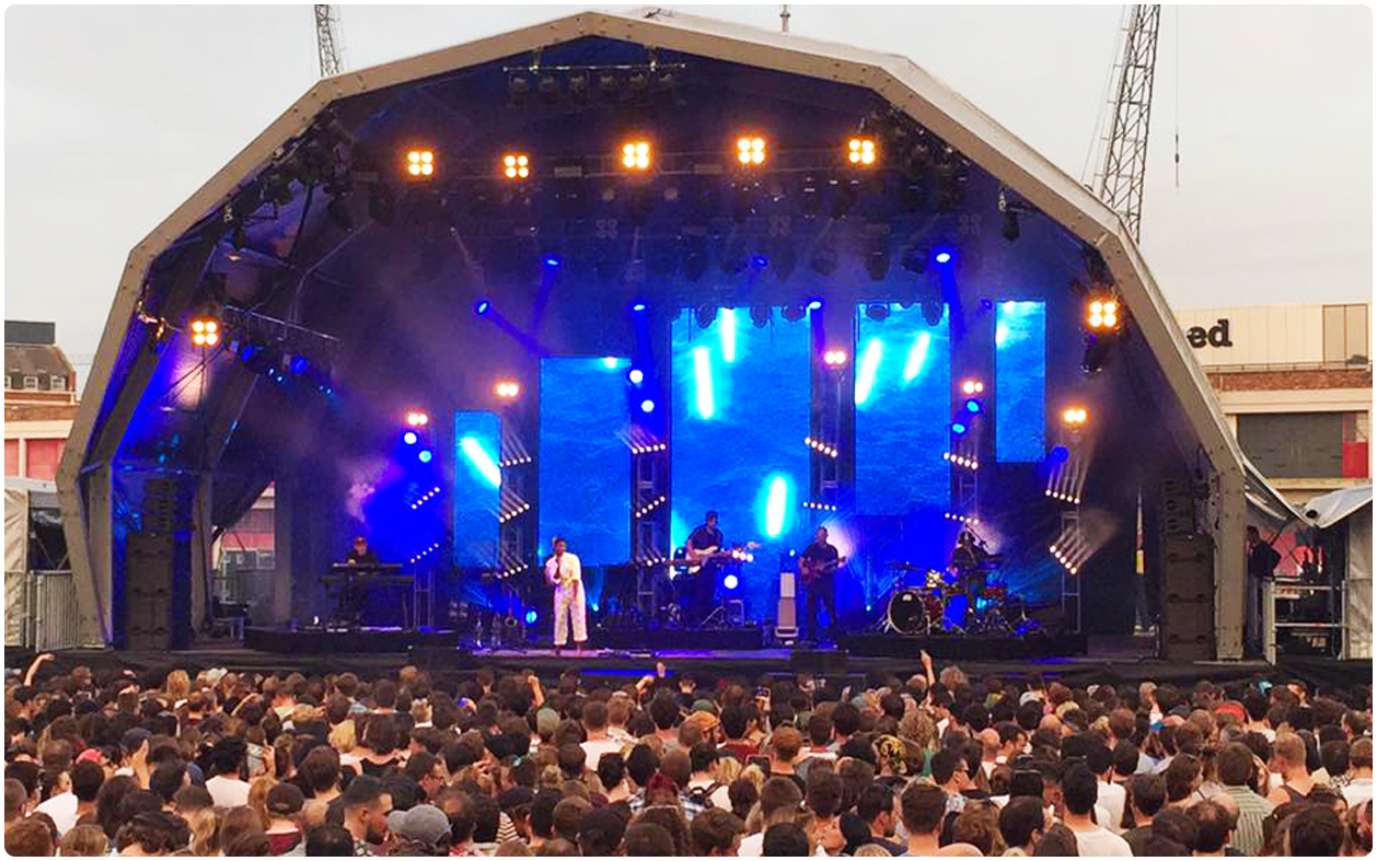 Bristol Sounds Bonobo LED Screen Design
