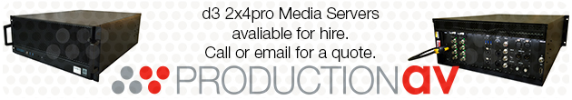 d3 Technologies 2x4pro Media Server Hire Banner