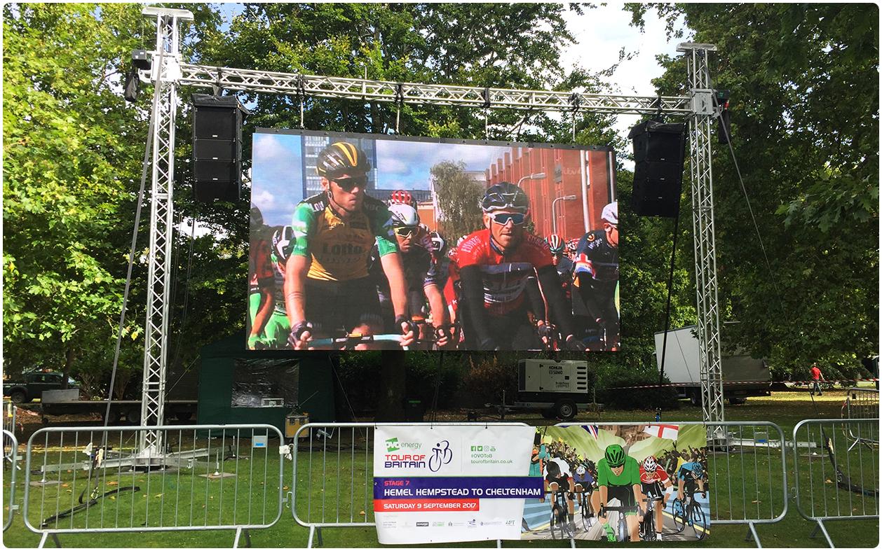 Cheltenham Festival of Cycling Pitville LED Screen