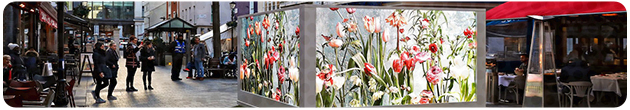 Spring Garden LED Screen Banner
