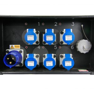32A 1ph Distro - 6 x16A, 1x Soca - MicroTile/LED Distro