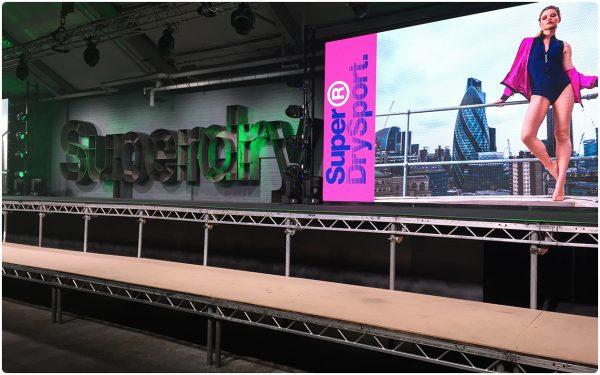 3.9mm LED Screen - Superdry Sportswear Launch